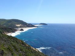 A view of the coast between Big Sur and Monterey