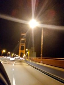 Crossing the Golden Gate Bridge at 10:30PM
