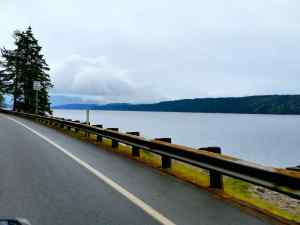 A portion of the Hood Canal on the way up to my parent's house.