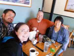 Breakfast in Port Angeles with my Dad and Stepmom