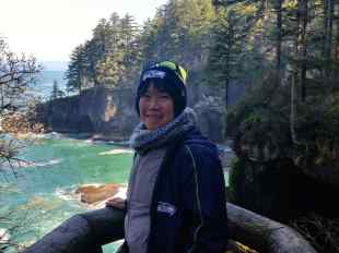 Kathy on Cape Flattery