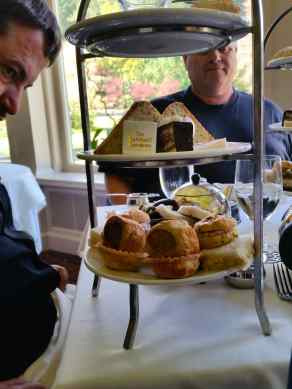 The food served with high tea in the gardens
