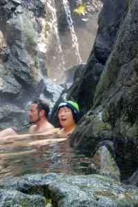 Kathy enjoying the hot springs