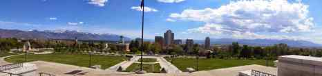 A view from the Utah State Capital Building