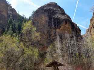 Our first view of the rock at Maple Canyon