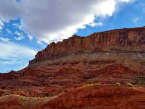 A view of a Moab Canyon Wall