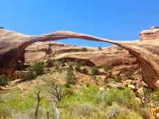 The Landscape Arch in Arches National Park