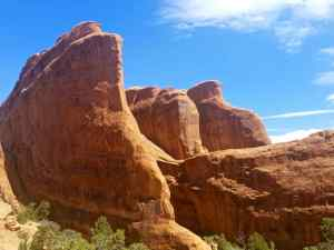 Rock formations in Arches National Park, in the Devil's Garden area