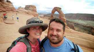 KC and I at the Delicate Arch