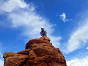 KC had a Lion King Moment at Arches National park