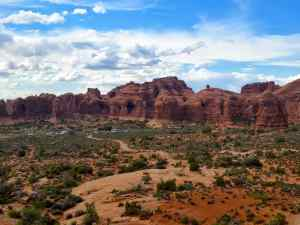A View of Arches National Park, looking north from the Windows