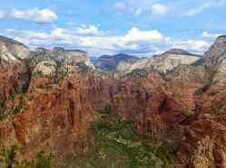A View of Zion Valley from Angels Landing