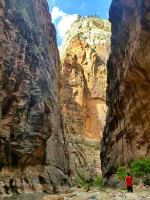 A view of the Narrows Hike