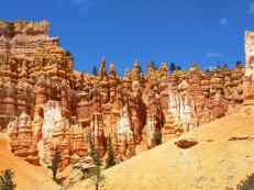 Hoodoos and sky along the Navajo Trail Look at Bryce Canyon