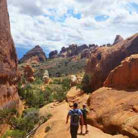 KC and Brian Hiking in back to the parking lot from the Navajo Arch.