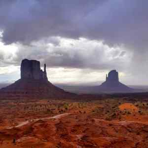 A closeup of the Monument Valley