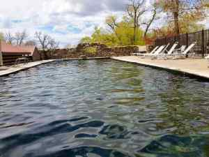 A view of the Hot Springs Pool, which is kept at a mild temperature