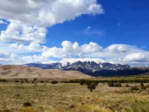 A view of the Great Dunes National Park in Southern Colorado