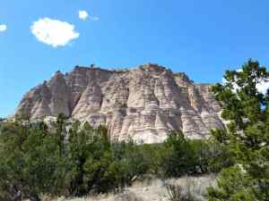 A view of the tent rocks at Kasha-Katuwe Tent Rocks National Monument, New Mexico