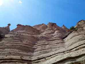 A view up close of the tent rocks