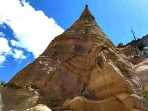 A view of the cone-shaped tent rock