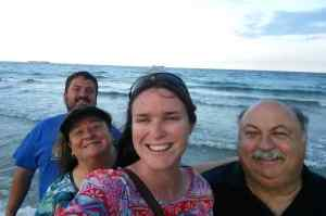 Family photo with KC's Parents on the Ft Lauderdale Beach