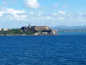 The Castillo San Felipe Del Morro at the entrance to the San Juan Bay in Puerto Rico