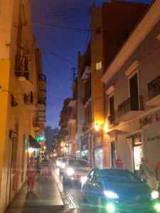 KC and I wandered the streets of San Juan at night