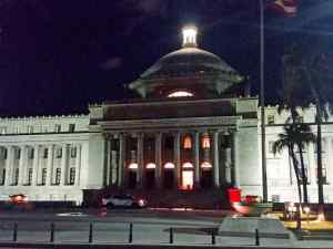 The Capitol building on Old San Juan