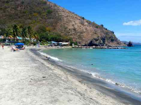 The swimming beach at St Kitts