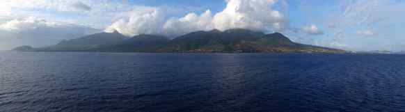 St Kitts as we sailed away