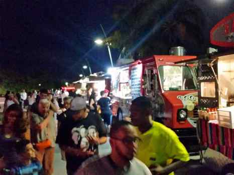 Chris took us out to food trucks for dinner the night before Cancun