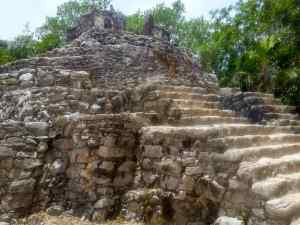 Around Xcaret, there were remains of an ancient Mayan Village