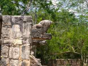 A feathered serpent detail in Chichen Viejo, Chichen Itza