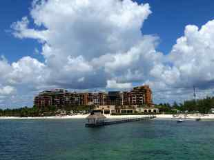 Our hotel as seen from the ferry on the way to Isla Mujeres