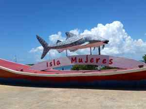 Welcome to Isla Mujeres, as seen from the ferry terminal