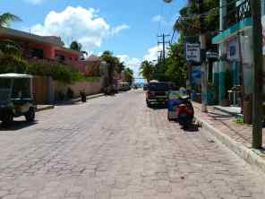 Street view of Isla Mujeres