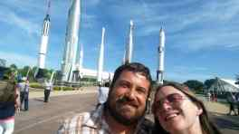 At the Space Center's Rocket Garden