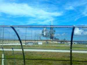The space launch site!