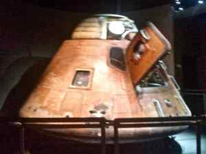 The return capsule from the first Apollo Mission