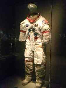 One of the early space suits