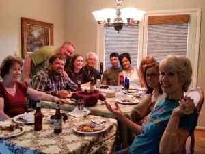 Family dinner at Grandma's