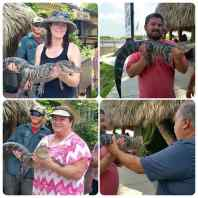 We all got to hold a 4yr old domesticated alligator
