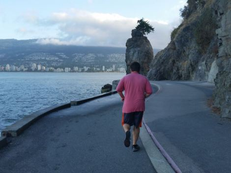 Morning run in Stanley Park