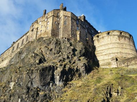 Edinburgh Castle, in the middle of the city