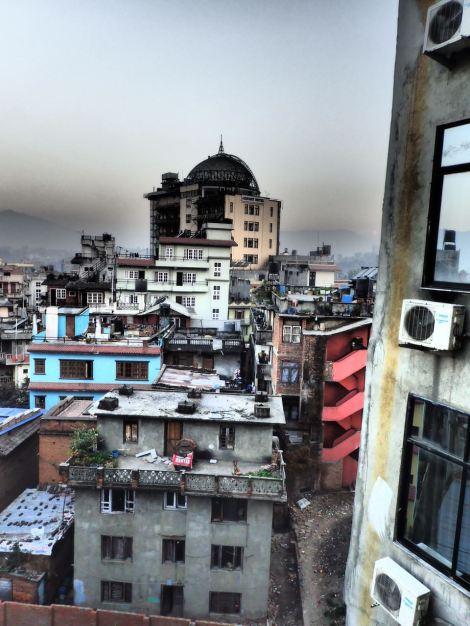 My first view of Kathmandu