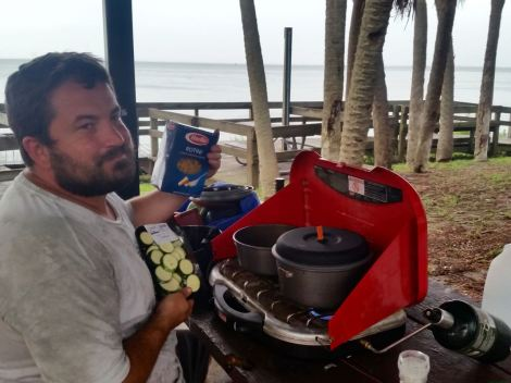 Cooking Along the Beach