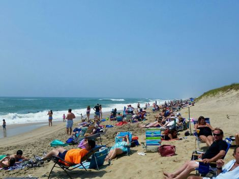Maybe going to the beach on Martha's Vineyard on the fifth of July (a Sunday, last year) wasn't the brightest idea