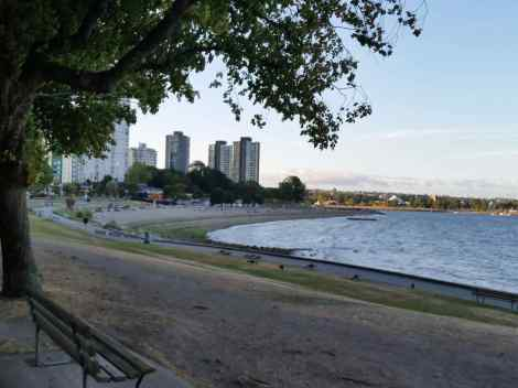 A view of Vancouver from Stanley Park