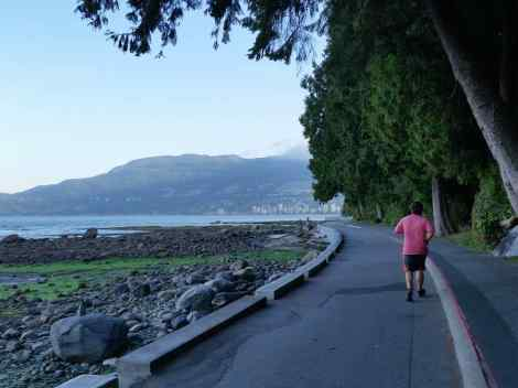 Running in Stanley Park